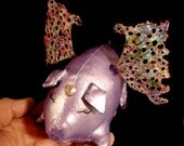 Pig Art Doll-When Pigs Fly-Winnie (Take Request to create Similar Pig Doll)