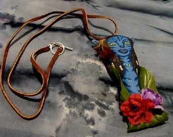 Avatar Art Doll Pendant-OOAK-(Will Create a pendant by Request)