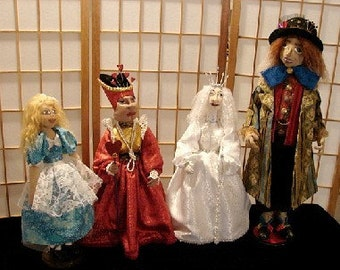 Alice In Wonderland Doll Set-Art Doll Set (Made  BY Request)  (4)
