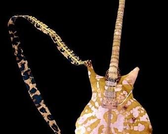 ART DOLL-Carlos Santana guitar replica-Cloth-OOAK (Made to Order by Request)