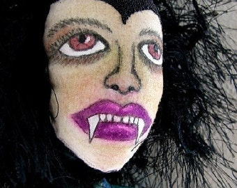 Vampire Art Doll-Vampirena-OOAK-Female Vampire Doll (Made to Order)