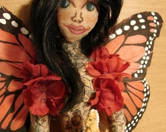 Butterfly Fairy Art Doll-Ooak  (Made to Order by Request)