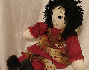 SWEETHEART RAG DOLL-(Order by Request to Make Similar Rag Doll)