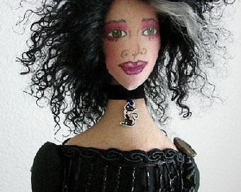 CALISTA-the Witch-Art Doll OOAK-20 inches - Custom Orders for Similar Doll By Request