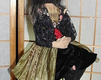 Art Doll-Morgana- the Witch-OOAK  (Made to order by Request)