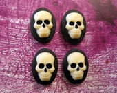 18x13mm Front Profile Day Of The Dead Skull Cameo(4)-L515
