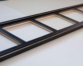 MULTI 5 Opening 8x10 distressed rustic collage picture frame with 8x10's in landscape position....black...HANDMADE