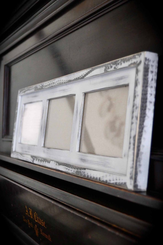 Multi 3 Opening 5x7 Distressed Pine Collage Frame Holds 3