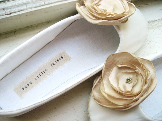 Bridal Shoes - Slippers Sizes 6-11- Made to Order Custom 3 Month Wait