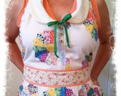 The Wendy Apron a Vintage style Shabby Chic full apron with Peter Pan Collar
