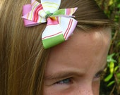 Malia Stripe - Tiny - Hair Bow