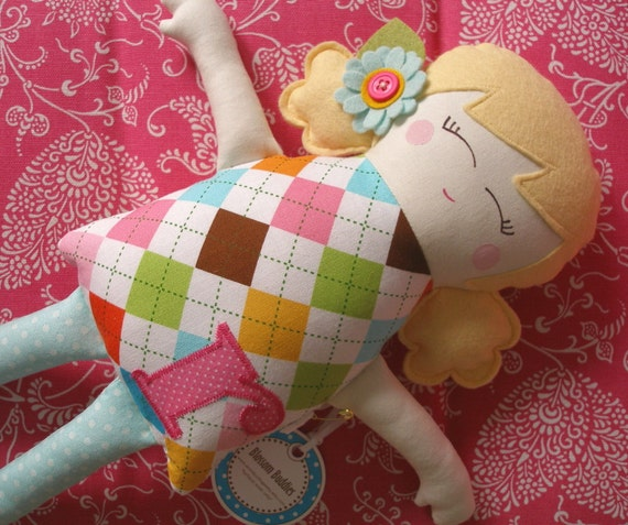 RESERVED for PhotoLady - Custom Felt Doll -You pick Hair and Details -  Made Just For You