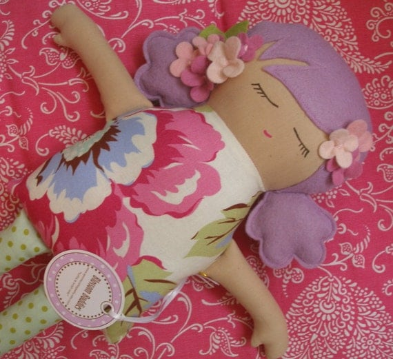 DELIA RAE -  Soft and Sweet Felt Doll / Plushie Special Edition Candy Colored Cuties - Ready to Ship