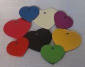 Engraved Pet ID tag, dog tags, cat tag, Personalized HEART shape Pet Dog Cat ID Tag Charm Identification