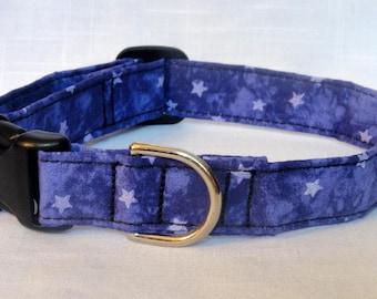 Dog Collar - Purple Stars Dog Pet Collar Red CUTE Designer Custom Adjustable Dog Collar Pet Collar Cat Collar