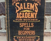 Salem's Academy Spells for Beginner Blank Journal with Lined Pages