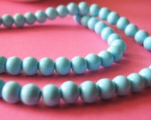 Sky blue glass beads 6mm - 50pcs