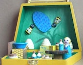 Wooden Fairy Doll, Bee Keeping\/Market Day Playset with Playbox