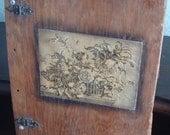 Vintage Handmade Wood Scrapbook