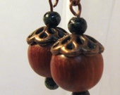 Woody Acorn Earrings