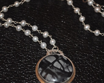 Pearl and Picasso Marble Necklace
