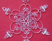 Quilled Snowflake Ornament: 'Christmas Lace' is a white Christmas ornament gift packaged paper ornament christmas decoration holiday decor