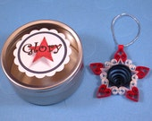 Glory mini quilled red, white, and blue Star-shaped Ornament gift packaged star decoration patriotic decor