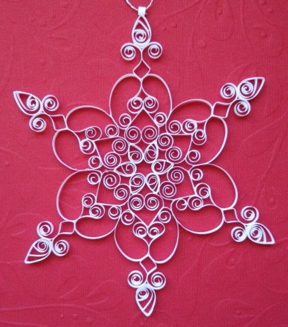 Quilled Paper Ornaments Quilled Snowflake Ornament
