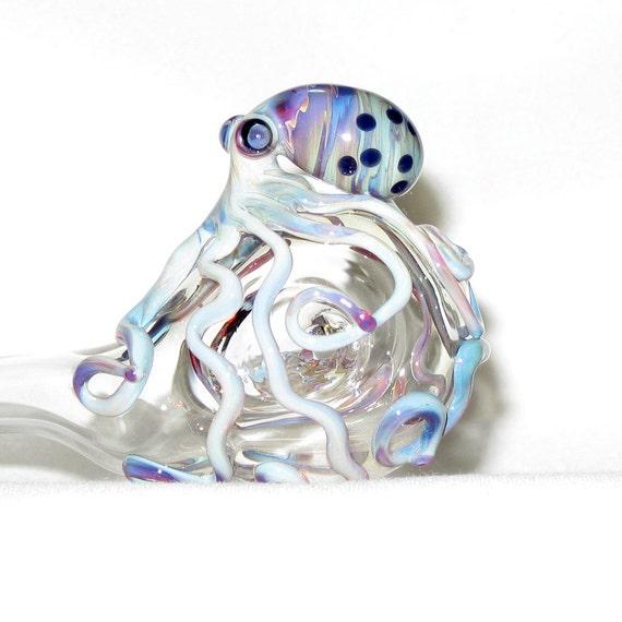 Octopus Sherlock  Medium Hand Blown Glass