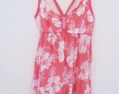 Womens Pink Floral cami