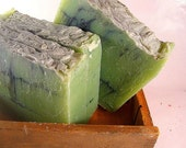 Fresh Bamboo Cold Process Soap Bar with Ground Loofa