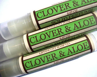 Clover and Aloe Solid Perfume, Perfume Stick, Perfume Tube, Fragrance Solid,  Phthalate Free Fragrance, Women's Fragrance