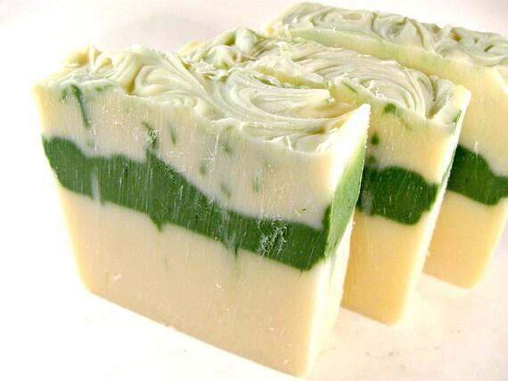 Clover & Aloe Soap, Cold Process Soap, Handmade Soap, Bar Soap, Phthalate Free, Palm Oil Free, Citrus, Jasmine, Woodsy, Sweet Musk, Feminine