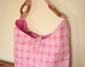 Pretty Pink Eco Bag with zip pocket