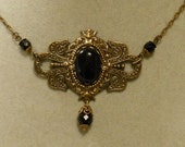 Titanic Jewelry Molly Browns Onyx Afternoon Tea Necklace