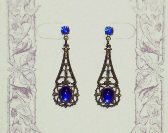 Somewhere In Time Elise's Blue Reunited Earrings