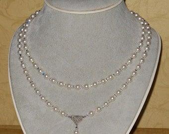 Titanic Jewelry Rose's Swarovski Pearl Crystal Heaven Wedding Necklace