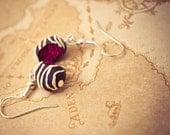 Dark Chocolate Raspberry Earrings
