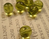 olive czech glass 6mm