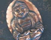 SALE - Vintage Copper Buddha Brooch by Kim