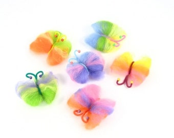 Rainbow Butterfly Wool Craft Kit Waldorf