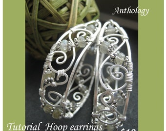 Tutorial - Hoop Earrings with Stones