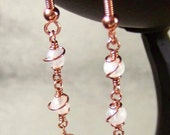 Santa Cruz, California - Moonstone and copper earrings