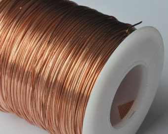 1 LB Roll of Bare Solid Copper Wire  Jewelers Quality Your Choice of from 12 thru 28 BEST VALUE