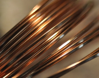 16 g Bare Solid SQUARE Copper Wire - Half Hard - Made in USA Great for jump rings and findings