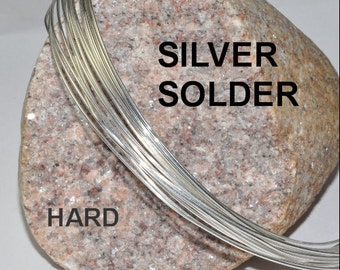 HARD Silver Solder Wire by the foot