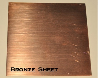 Bronze Sheet Bare Solid Bronze Your Choice of Gauge & Size
