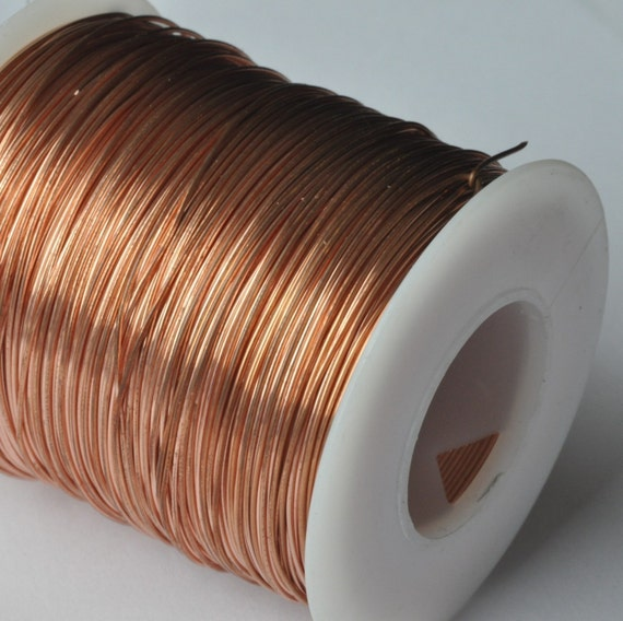 18 g Bare SOLID Copper Wire - 50 feet - Dead Soft - jewelers quality