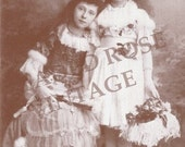 Faded Rose VINTAGE Image FRIENDSHIP SISTERS Greeting Card (32)