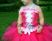 SALE  Sleeping Beauty Princess Tutu and Corset Halloween Costume Dress Up Set Gift 2T 3T 4T 5 6 7 8